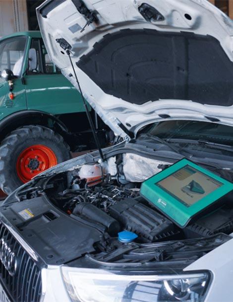 Genaue Diagnose des Fahrzeuges